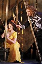 TOSCA   by Puccini   conductor: Antonio Pappano   director: Jonathan Kent,Act I: Angela Gheorghiu (Floria Tosca), Bryn Terfel (Baron Scarpia),The Royal Opera / Covent Garden   London WC2         13/06...