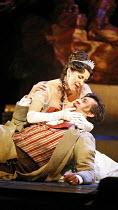TOSCA   by Puccini   conductor: Antonio Pappano   director: Jonathan Kent,Act II: Angela Gheorghiu (Floria Tosca), Marcello Alvarez (Mario Cavaradossi),The Royal Opera / Covent Garden   London WC2...