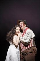 TOSCA   by Puccini   conductor: Antonio Pappano   director: Jonathan Kent,Act III: Angela Gheorghiu (Floria Tosca), Marcello Alvarez (Mario Cavaradossi),The Royal Opera / Covent Garden   London WC2...