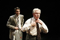 A VOYAGE ROUND MY FATHER   by John Mortimer   director: Thea Sharrock,l-r: Dominic Rowan (Son), Derek Jacobi (Father),Donmar Warehouse / London WC2                   13/06/2006  ,