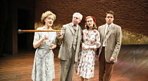 A VOYAGE ROUND MY FATHER   by John Mortimer   director: Thea Sharrock,l-r: Joanna David (Mother), Derek Jacobi (Father), Natasha Little (Elizabeth), Dominic Rowan (Son),Donmar Warehouse / London WC2...