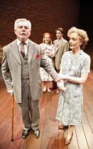 A VOYAGE ROUND MY FATHER   by John Mortimer   director: Thea Sharrock,l-r: Derek Jacobi (Father), Natasha Little (Elizabeth), Dominic Rowan (Son), Joanna David (Mother),Donmar Warehouse / London WC2...