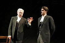 A VOYAGE ROUND MY FATHER   by John Mortimer   director: Thea Sharrock,l-r: Derek Jacobi (Father), Dominic Rowan (Son),Donmar Warehouse / London WC2                   13/06/2006  ,