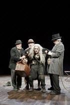 'WAITING FOR GODOT' (Beckett - director: Peter Hall),l-r: Alan Dobie (Estragon), (rear) Terence Rigby (Pozzo), Richard Dormer (Lucky), James Laurenson (Vladimir),Theatre Royal Bath             25/08/2...
