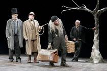'WAITING FOR GODOT' (Beckett - director: Peter Hall),l-r: James Laurenson (Vladimir), Terence Rigby (Pozzo), Richard Dormer (Lucky), Alan Dobie (Estragon) ,Theatre Royal Bath             25/08/2005,