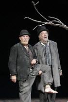 'WAITING FOR GODOT' (Beckett - director: Peter Hall),l-r: Alan Dobie (Estragon), James Laurenson (Vladimir) ,Theatre Royal Bath             25/08/2005,