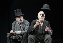 WAITING FOR GODOT   by Samuel Beckett   director: Peter Hall,l-r: James Laurenson (Vladimir),Alan Dobie (Estragon),New Ambassadors Theatre, London WC2        09/10/2006    (first presented at Theatre...