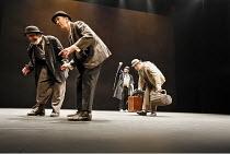 WAITING FOR GODOT   by Samuel Beckett   director: Walter D Asmus,l-r: Johnny Murphy (Estragon), Barry McGovern (Vladimir), Alan Stanford (Pozzo), Stephen Brennan (Lucky),Beckett Centenary Festival / B...