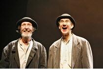 WAITING FOR GODOT   by Samuel Beckett   director: Walter D Asmus,l-r: Johnny Murphy (Estragon), Barry McGovern (Vladimir),Beckett Centenary Festival / BITE:06 / Barbican Theatre, London EC2       05/0...