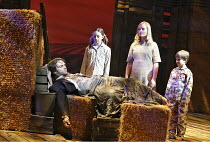 WHISTLE DOWN THE WIND   music by Andrew Lloyd Webber   lyrics by Jim Steinman,based on the novel by Mary Hayley Bell   director: Bill Kenwright,l-r: Tim Rogers (The Man), Emma Hopkins (Brat), Claire M...