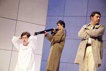 THE WHITE ALBUM   by Michael Pinchbeck  from an original concept, and directed, by Giles Croft,l-r: Daniel Rigby (William Garretson), Andrew Turner (Policeman 2), Paul McGreevey (Policeman 1),Nottingh...