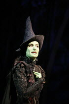 WICKED   music & lyrics: Stephen Schwartz    book: Winnie Holzman   ,based on the novel by Gregory Maguire   director: Joe Mantello,Idina Menzel (Elphaba),Apollo Victoria, London SW1      27/09/2006,