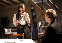 THE WILD DUCK   by Ibsen   in a new version by David Eldridge   director: Michael Grandage,l-r: Paul Hilton (Hjalmar Ekdal), Ben Daniels (Gregers Werle),Donmar Warehouse / London WC2        13/12/2005...
