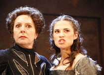WOMEN BEWARE WOMEN   by Thomas Middleton   director: Laurence Boswell,l-r: Penelope Wilton (Livia), Hayley Atwell (Bianca),Royal Shakespeare Company / Swan Theatre, Stratford-upon-Avon, England   23/0...