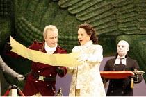 XERXES   by Handel   conductor: Noel Davies   original director: Nicholas Hytner,front left: Neal Davies (Ariodates), Katarina Karneus (Xerxes),English National Opera / London Coliseum  WC2...