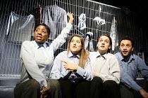 YESTERDAY WAS A WEIRD DAY   Reflections on July 7th 2005,Year 6 schoolchildren, Argyle School, Kings Cross - l-r: Janette-Nicole Nzekwe, Charity Wakefield, Toby Manley, Aykut Hilmi,look left look righ...