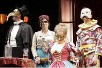 'YOU NEVER CAN TELL' (GB Shaw - director: Peter Hall),l-r: Michael Mears (Bohun), Diana Quick (Mrs Clandon), Sin�ad Matthews (Dolly), Matthew Dunphy (Phil),Theatre Royal Bath             25/08/2005,