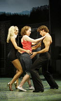 DIRTY DANCING   by Eleanor Bergstein   director: James Powell,l-r: Nadia Coote (Penny), Georgina Rich (Baby), Josef Brown (Johnny),Aldwych Theatre, London WC2                         24/10/2006,