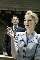 'AFTER MISS JULIE' (Patrick Marber, after Strinberg - director: Michael Grandage)~Richard Coyle (John), Kelly Reilly (Miss Julie)~Donmar Warehouse, London WC2         25/11/2003
