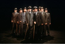 male chorus in ANTIGONE by Sophocles at the Cottesloe Theatre, National Theatre (NT), London SE1  17/05/1984  translated by C A Trypanis  design: Alison Chitty  lighting: Stephen Wentworth  directors...