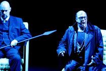 GOTTERDAMMERUNG (Wagner)~l-r: Mats Almgren (Hagen), Peter Sidhom (Alberich)~Scottish Opera / Festival Theatre, Edinburgh                  05/04/2003