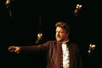 Simon Russell Beale (Hamlet, Prince of Denmark) in  HAMLET by Shakespeare at the Lyttelton Theatre, National Theatre (NT), London SE1: first night 05/09/2000 ~design: Tim Hatley  lighting: Paul Pyant...