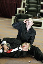'HAMLET' (Shakespeare)   (director: Calixto Bieito) (top) George Anton (Hamlet), Lex Shrapnel (Laertes) Birmingham Repertory Theatre & Edinburgh International Festival co-production    Royal Lyceum...