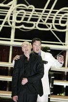 'HAMLET' (Shakespeare)   (director: Calixto Bieito) l-r: George Anton (Hamlet), Karl Daymond (Horatio) Birmingham Repertory Theatre & Edinburgh International Festival co-production    Royal Lyceum...