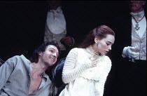 HAMLET   by Shakespeare - director: Jonathan Kent,Ralph Fiennes (Hamlet), Tara Fitzgerald (Ophelia),Hackney Empire, London E8 / Almeida Theatre production                                    28/02/1995...