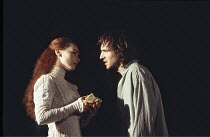 HAMLET   by Shakespeare - director: Jonathan Kent,Tara Fitzgerald (Ophelia), Ralph Fiennes (Hamlet),Hackney Empire, London E8 / Almeida Theatre production                                    28/02/1995...