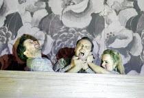 LADY MACBETH OF MTSENSK by Shostakovich  conductor: Antonio Pappano   director: Richard Jones~Sergey and Katerina kill Zinovy - l-r: Christopher Ventris (Sergey), Stefan Margita (Zinovy Ismailov), Kat...