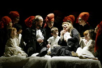 'MACBETH ' (Verdi)~Anthony Michaels-Moore (Macbeth), Maria Guleghina (Lady Macbeth) with children and witches~The Royal Opera/Covent Garden, London WC2                     13/06/2002