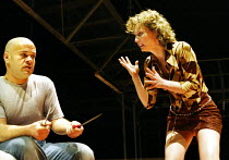 'MACBETH' (Shakespeare - director: Calixto Bieito)~Mingo Rfols (Macbeth), Roser Cami (Lady Macbeth)~Teatre Romea / BITE:03   Barbican Theatre, London EC2                  08/04/2003