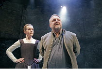 MACBETH  by Shakespeare  design: Christopher Oram  lighting: Neil Austin  director: John Caird  ~Emma Fielding (Lady Macbeth), Simon Russell Beale (Macbeth) ~Almeida Theatre, London N1  19/01/2005