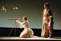 'MADAMA BUTTERFLY' (Puccini)~Butterfly watches for Pinkerton's ship: Natalia Dercho (Cio-Cio-San), Jane Irwin (Suzuki), Sam Aschavir (Sorrow)~Scottish Opera  05/12/2000