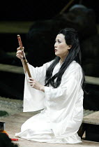 'MADAM BUTTERFLY'(Puccini)~Butterfly contemplates death by her father's ceremonial dagger: Ai-Lan Zhu (Madam Butterfly)~Royal Albert Hall, London   20/02/2003