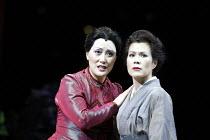 'MADAM BUTTERFLY'(Puccini)~l-r: Ai-Lan Zhu (Madam Butterfly), Ning Liang (Suzuki)~Royal Albert Hall, London   20/02/2003