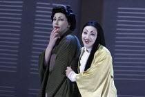 'MADAMA BUTTERFLY' (Puccini - conductor: Daniel Oren   directors: Moshe Leiser & Patrice Caurier),l-r: Christine Rice (Suzuki), Cristina Gallardo-Domas ( Cio-Cio-San),The Royal Opera / Covent Garden,...