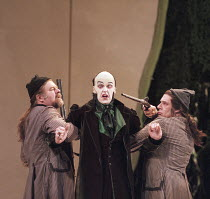 THE MAGIC FLUTE   by Mozart - original director: Nicholas Hytner,centre: John Graham-Hall (Monostatos),English National Opera / London Coliseum  WC2         18/01/1996    ,