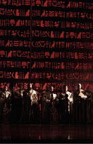 THE MAGIC FLUTE   by Mozart - original director: Nicholas Hytner,Priests in the Temple,English National Opera / London Coliseum  WC2         18/01/1996    revived 19/09/2005    ,
