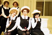 'THE MIKADO' (Gilbert & Sullivan) Three Little Maids, l-r: Fiona Canfield (Peep-Bo), Alison Roddy (Yum-Yum), Victoria Simmonds (Pitti-Sing) English National Opera/London Coliseum, WC2     10/12/2001