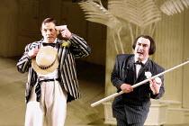 'THE MIKADO' (Gilbert & Sullivan)~l-r: Bonaventura Bottone (Nanki-Poo), Richard Suart (Ko-Ko)~English National Opera/London Coliseum, WC2     10/12/2001