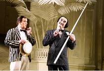 'THE MIKADO' (Gilbert & Sullivan) l-r: Bonaventura Bottone (Nanki-Poo), Richard Suart (Ko-Ko) English National Opera/London Coliseum, WC2     10/12/2001
