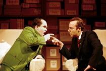 Robert Brubaker (Mao Tse-tung), James Maddalena (Richard Nixon) in NIXON IN CHINA at English National Opera (ENO), London Coliseum, London WC2  07/06/2000~music: John Adams  libretto: Alice Goodman  c...