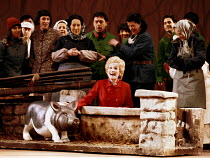 'NIXON IN CHINA' (Adams/Goodman)~Mrs Nixon visits a farm: Janice Kelly~English National Opera  07/06/2000
