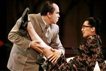 Robert Brubaker (Mao Tse-tung), Judith Howarth (Chiang Ch'ing/Madame Mao Tse-tung) in NIXON IN CHINA at English National Opera (ENO), London Coliseum, London WC2  07/06/2000~music: John Adams  librett...