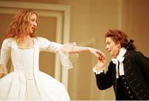 'LE NOZZE DI FIGARO' (Mozart)~l-r: Maria Constanza Nocentini (The Countess), Marina Comparato (Cherubino)~Glyndebourne Festival Opera  05/2000, revived  10/06/2001