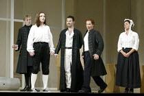 'LE NOZZE DI FIGARO' (Mozart)   (director: Daniel Farncombe   conductor: Mark Wigglesworth)~l-r: John Graham-Hall (Don Basilio), Linda Tuvas (Cherubino), Mariusz Kwiecien (Count Almaviva), Christopher...