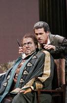 'OTELLO' (Verdi - conductor: Antonio Pappano   original director: Elijah Moshinsky),l-r: Ben Heppner (Otello), Lucio Gallo (Iago),The Royal Opera / Covent Garden   London WC2         28/06/2005,