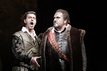 'OTELLO' (Verdi - conductor: Antonio Pappano   original director: Elijah Moshinsky),l-r: Lucio Gallo (Iago), Ben Heppner (Otello),The Royal Opera / Covent Garden   London WC2         28/06/2005,